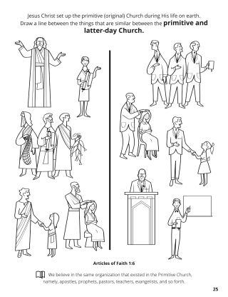 Sixth Article of Faith coloring page
