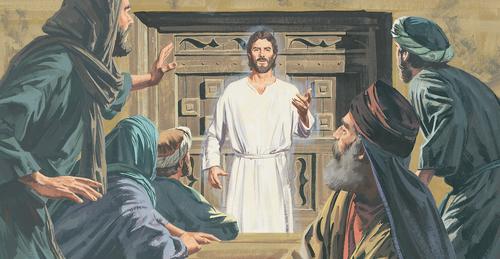 Jesus appearing to Apostles
