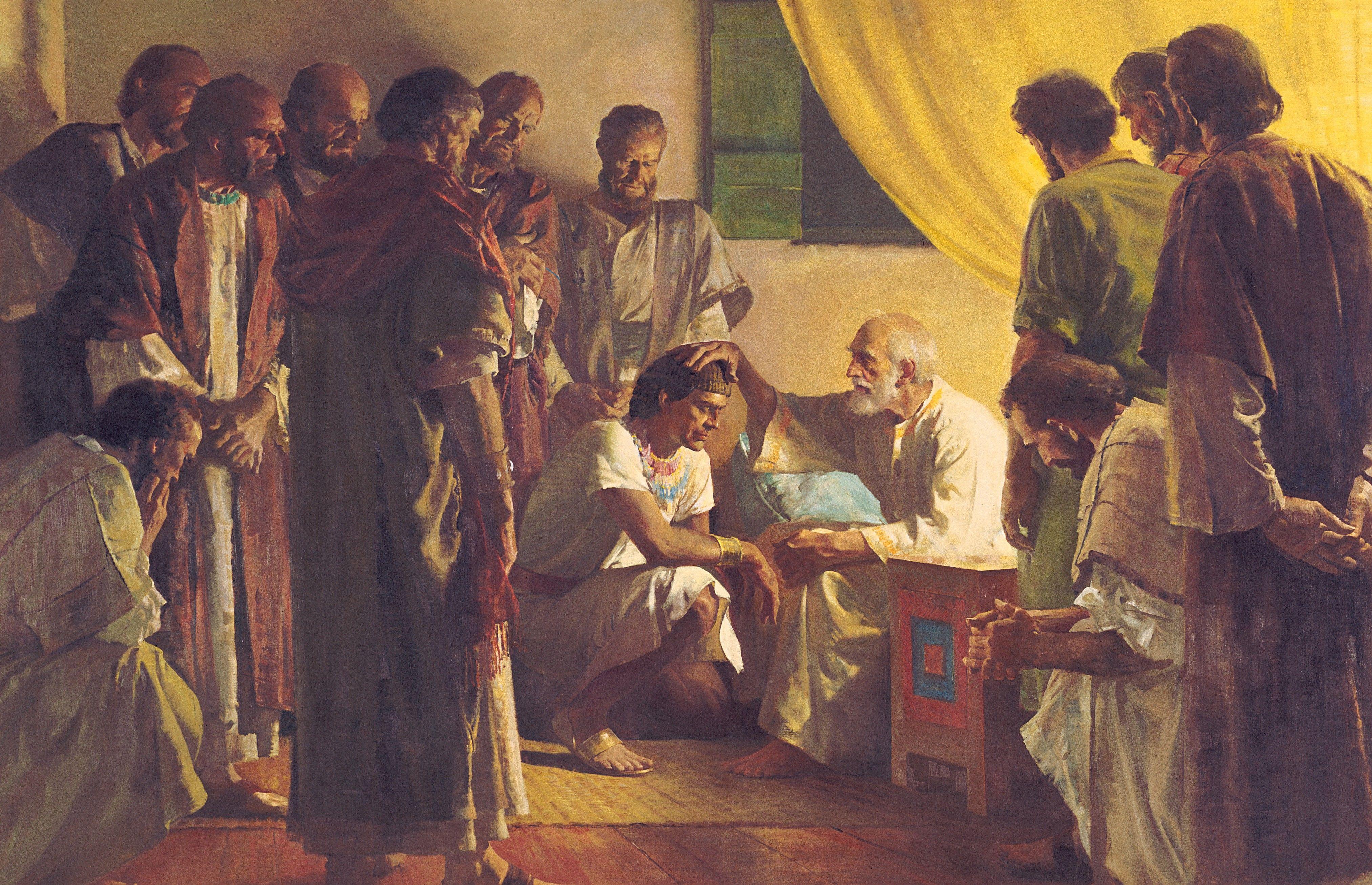 Jacob Blessing His Sons (Jacob Blessing Joseph), by Harry Anderson; GAK 122; GAB 12; Genesis 49