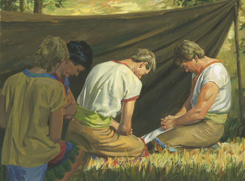 missionaries praying