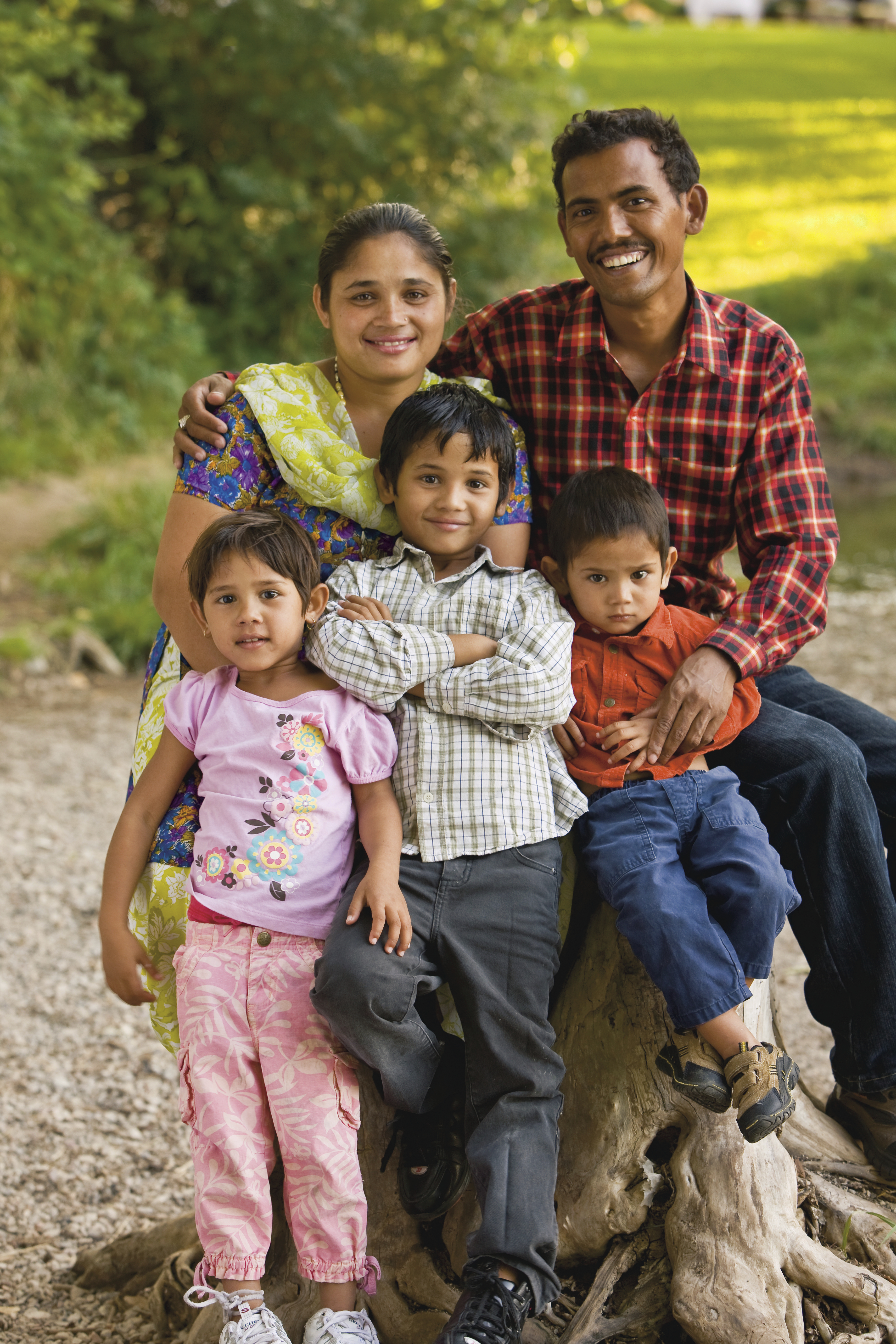 A portrait of a family from Nepal.