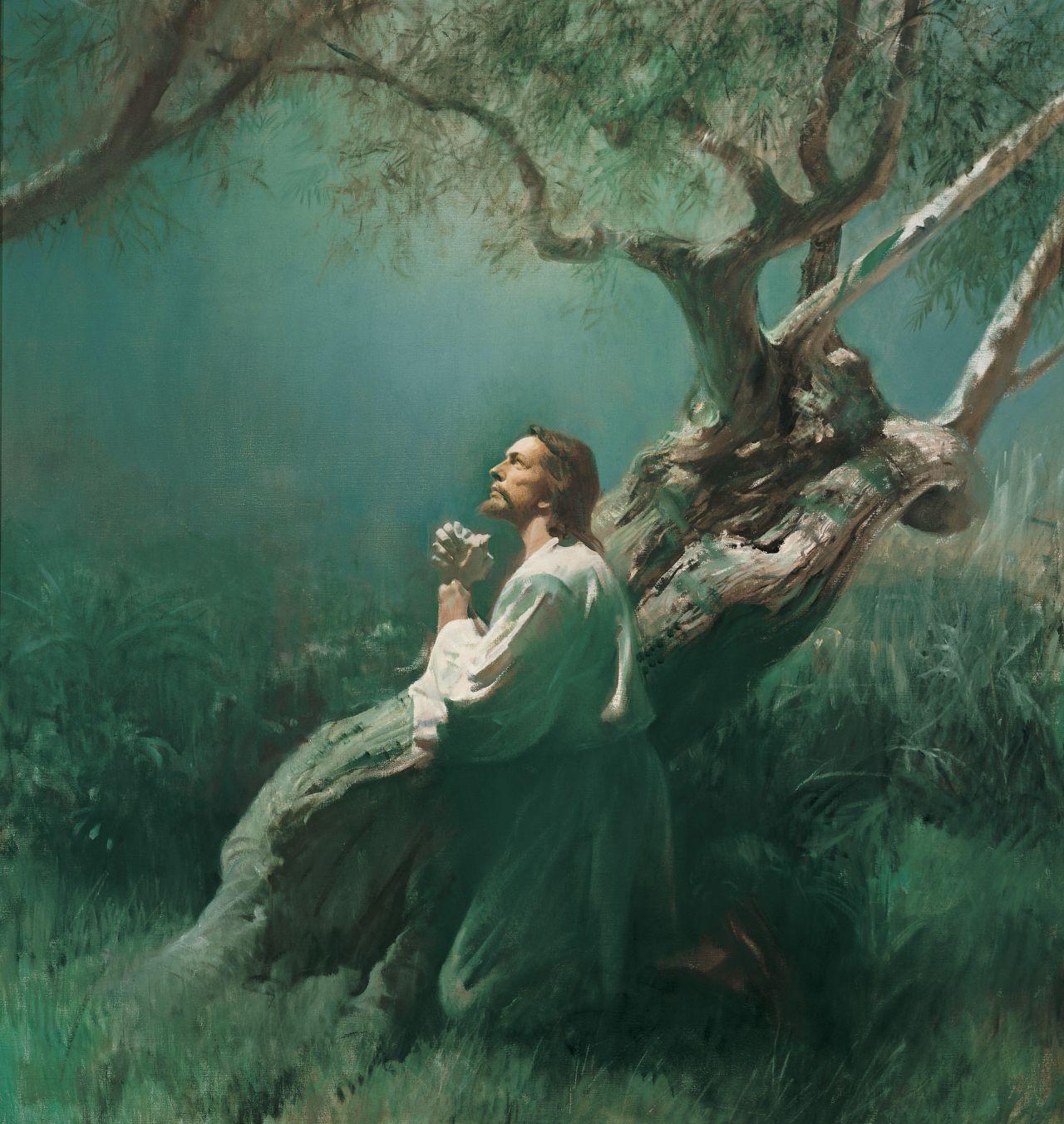 Jésus-Christ souffre pour nos péchés dans le jardin de Gethsémané