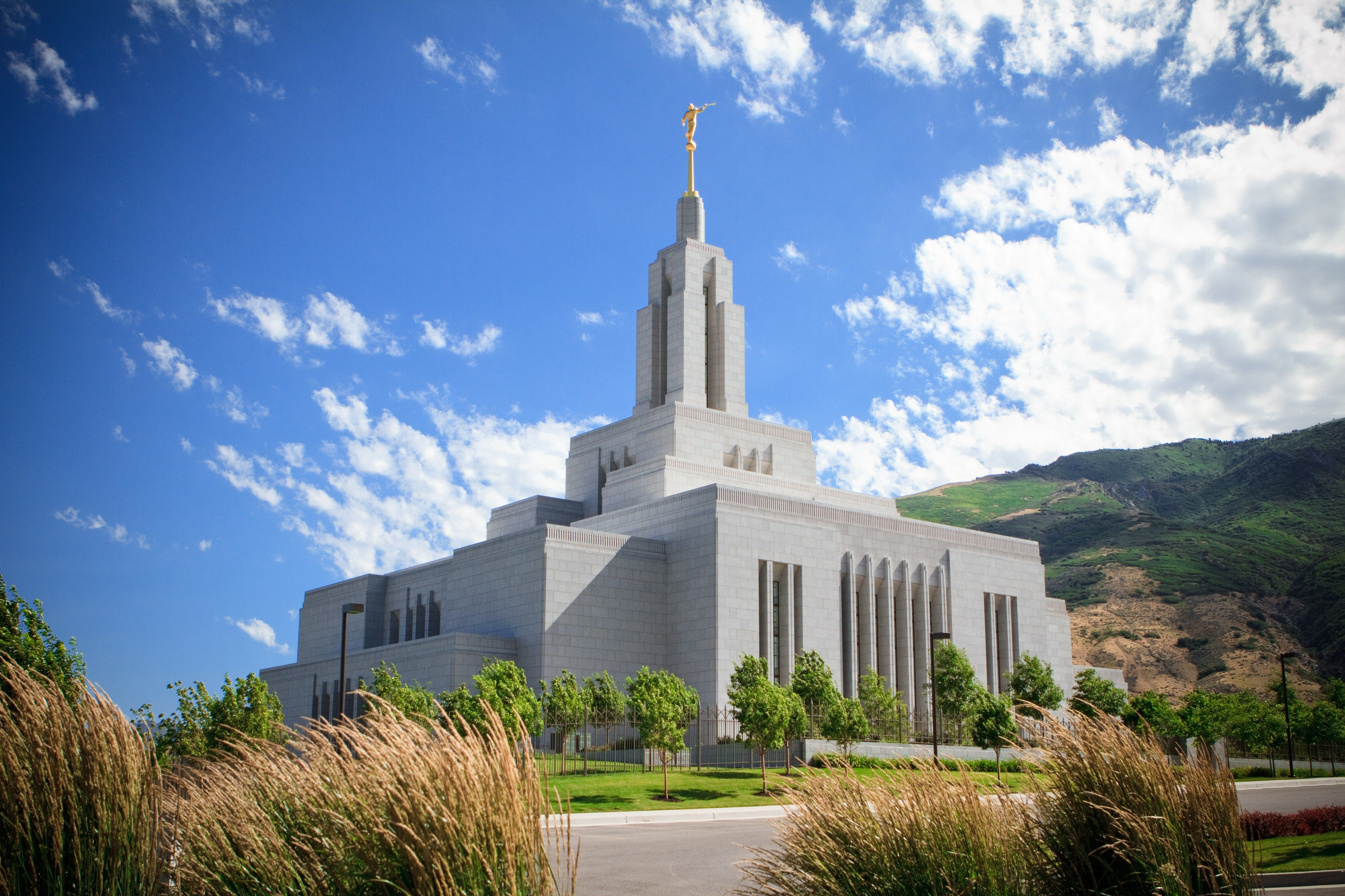 The Draper Utah Temple and grounds.