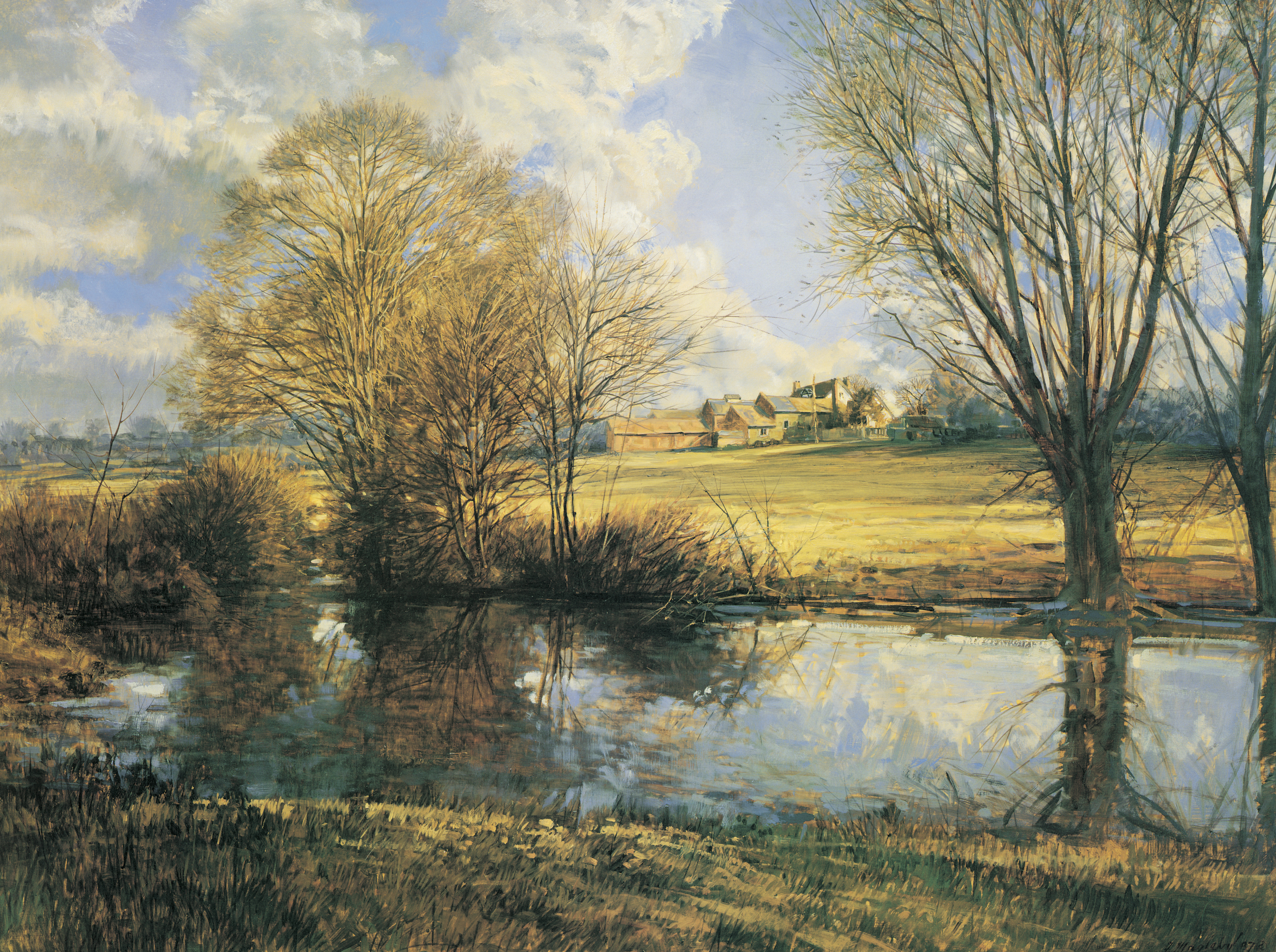 Benbow Farm and Pond, by Francis R. (Frank) Magleby