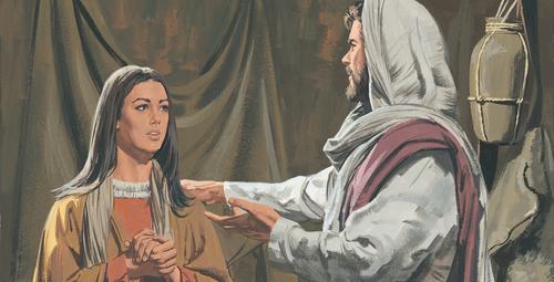 Jesus talking to woman