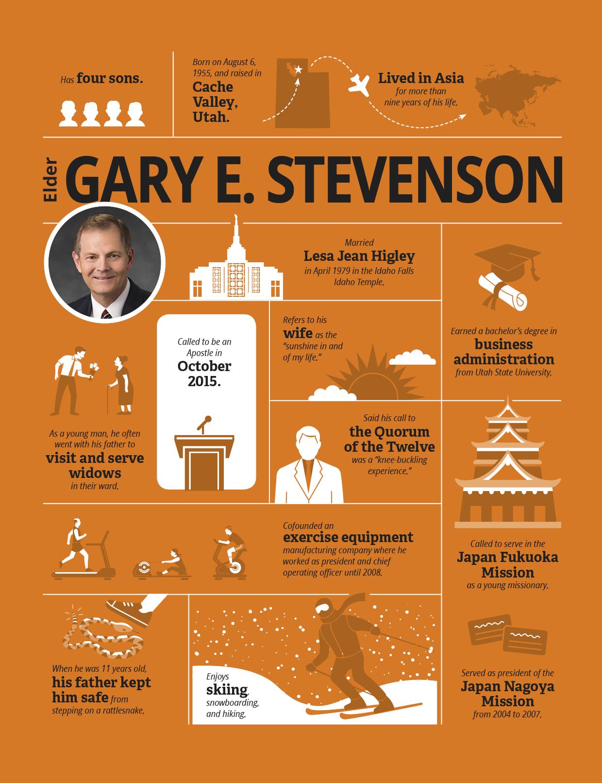 infographic of Elder Stevenson