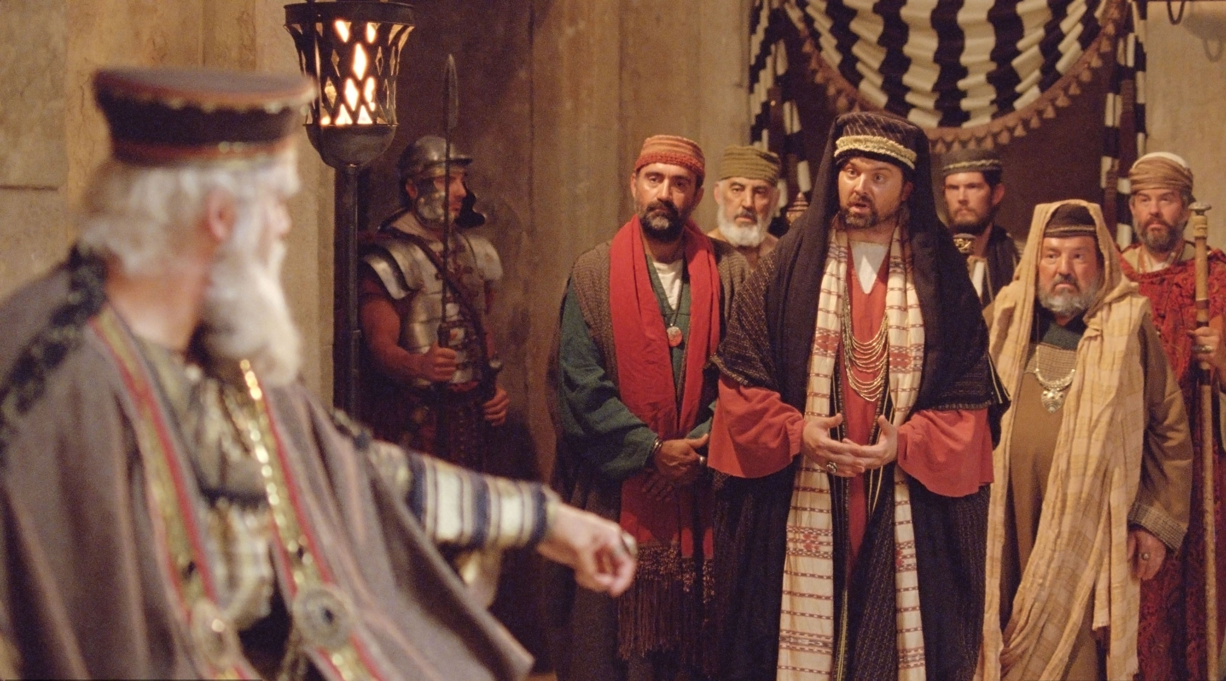 The chief priests and scribes of King Herod tell him of the prophecies of Christ's birth.