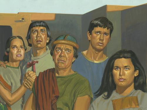 Nephites crying