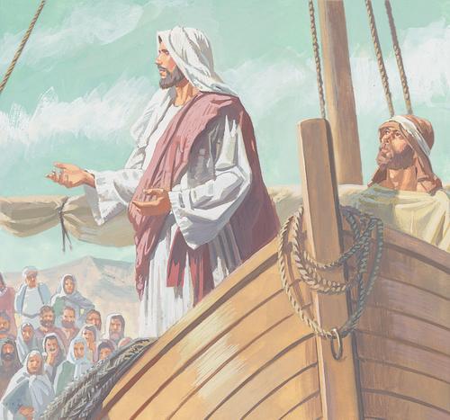 Jesus on boat