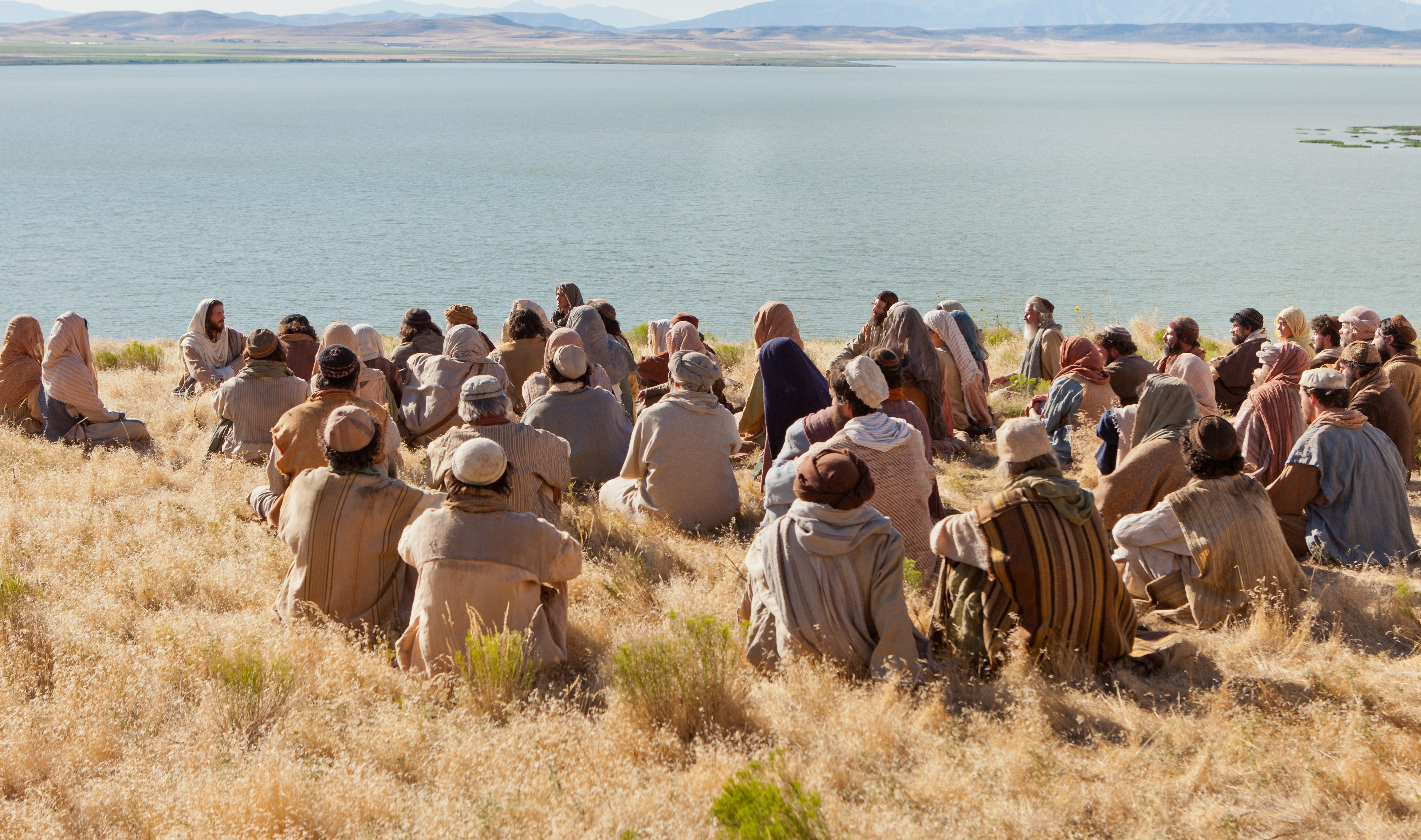 Jesus teaches listeners how to pray and gives the Lord's Prayer.