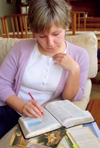 Scripture study and teaching. Adult. Female
