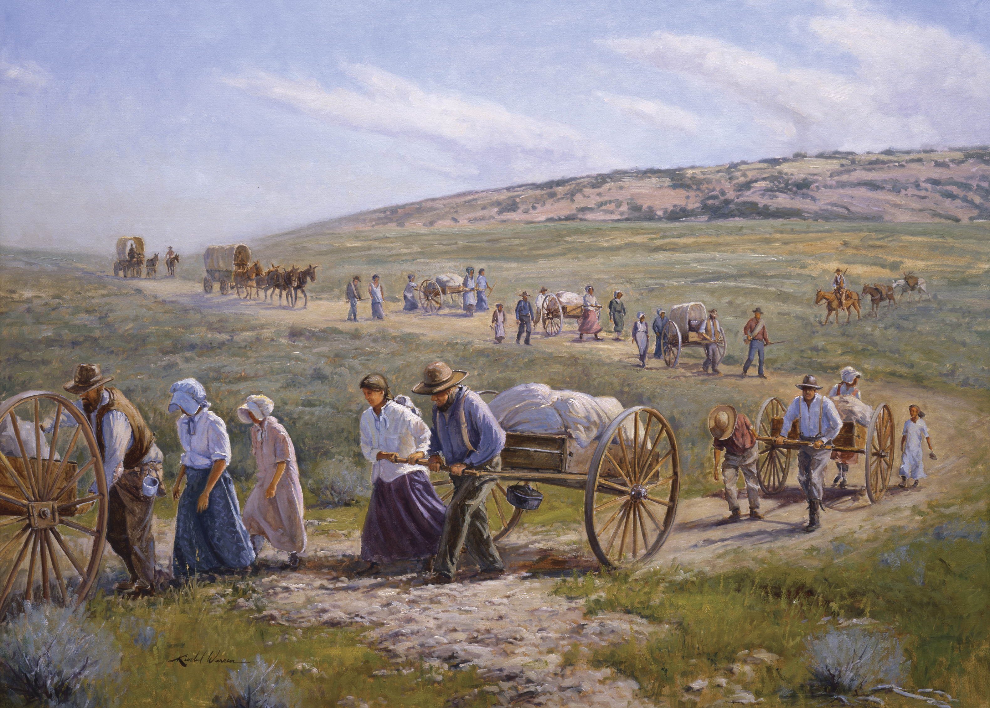 Pushing, Pulling and Praying, Bound for Zion, by E. Kimball Warren