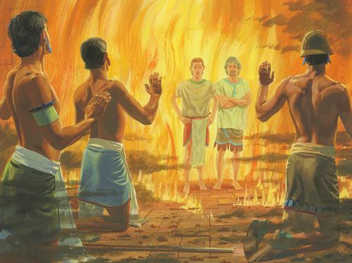 fire around men