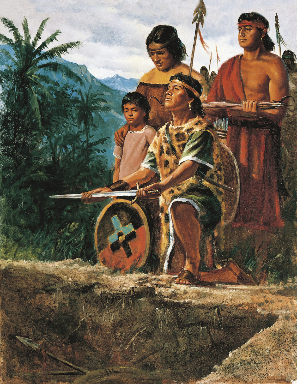 The Anti-Nephi-Lehies Burying Their Swords