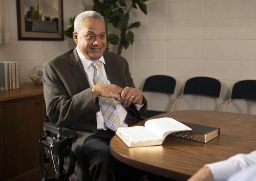 Bishop in Wheelchair