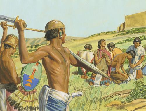 Lamanites coming and people praying