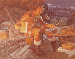 Nephi Fashioning the Plates