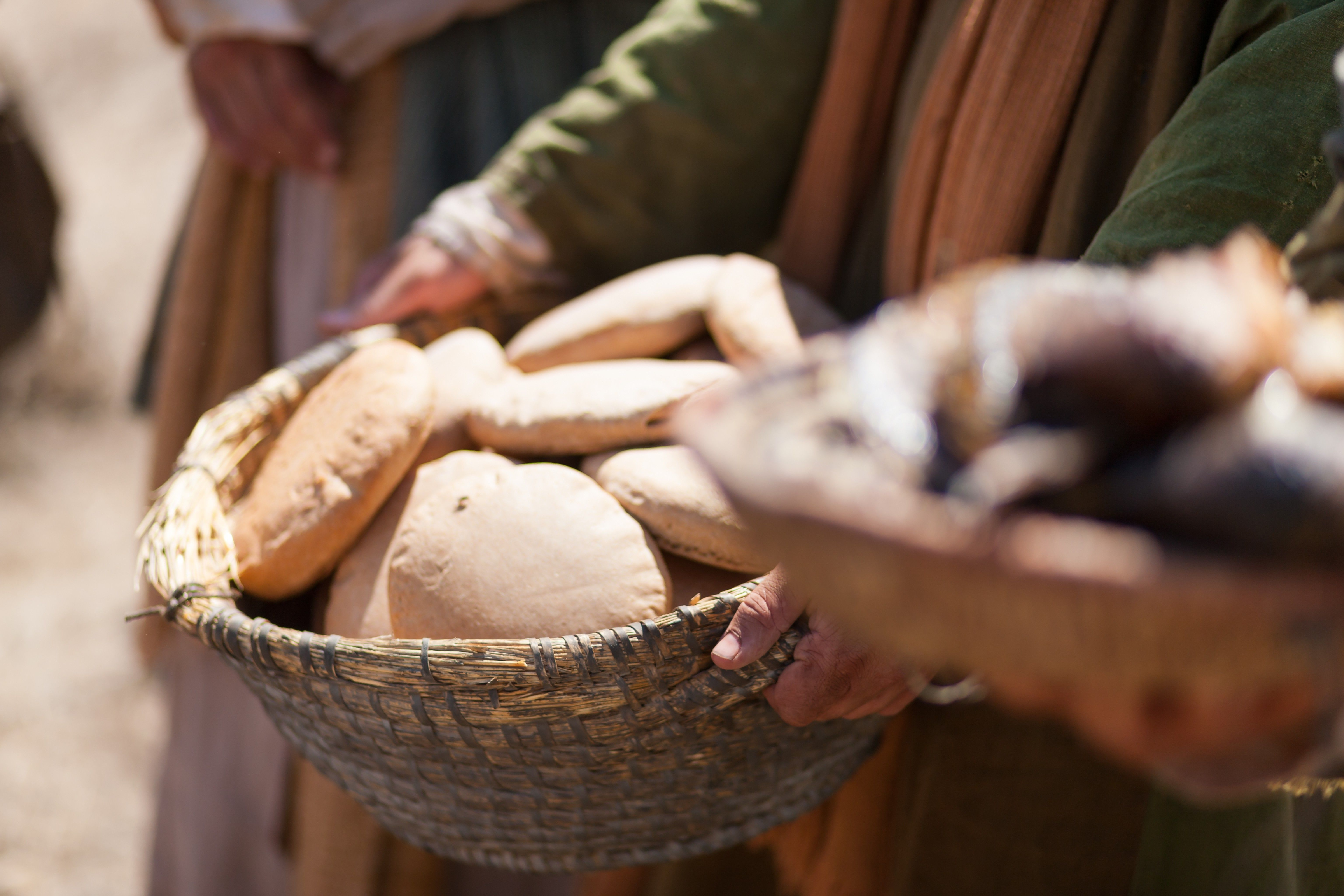 The loaves of bread used by Jesus Christ to feed 5,000 people.