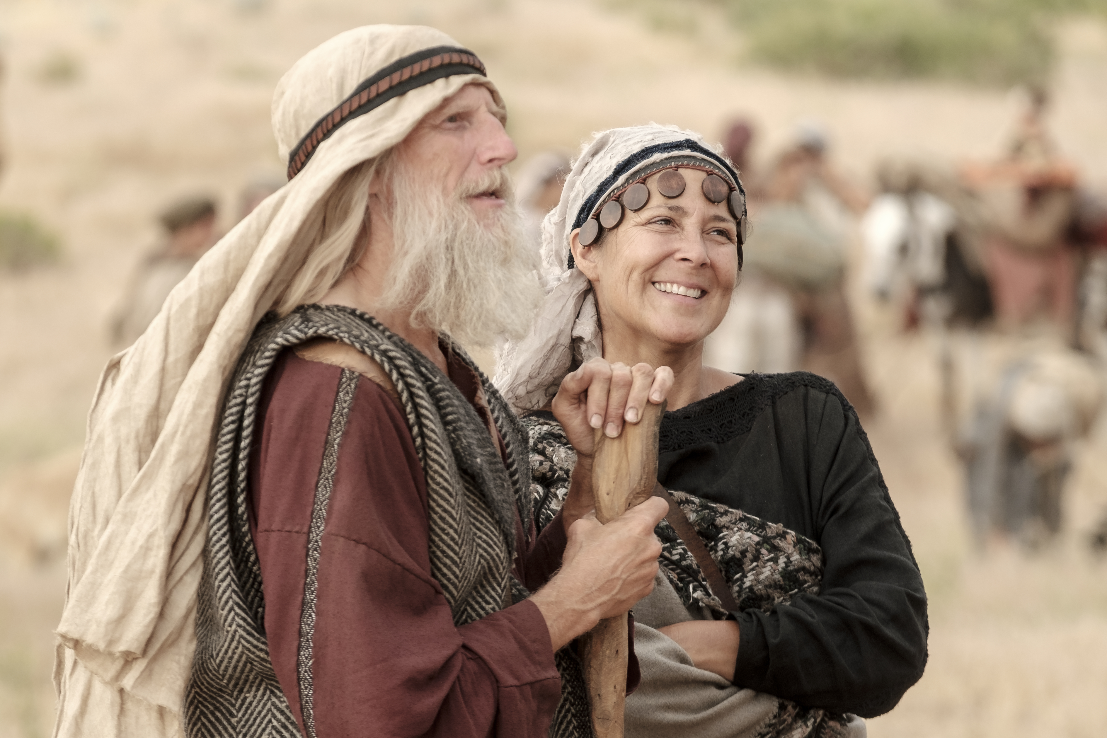 Ishmael and his wife talk in the wilderness.