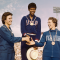 Dorothy Hyman, Wilma Rudolph, Giusseppina Leone Shaking Hands