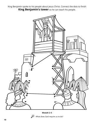King Benjamin's Speech coloring page
