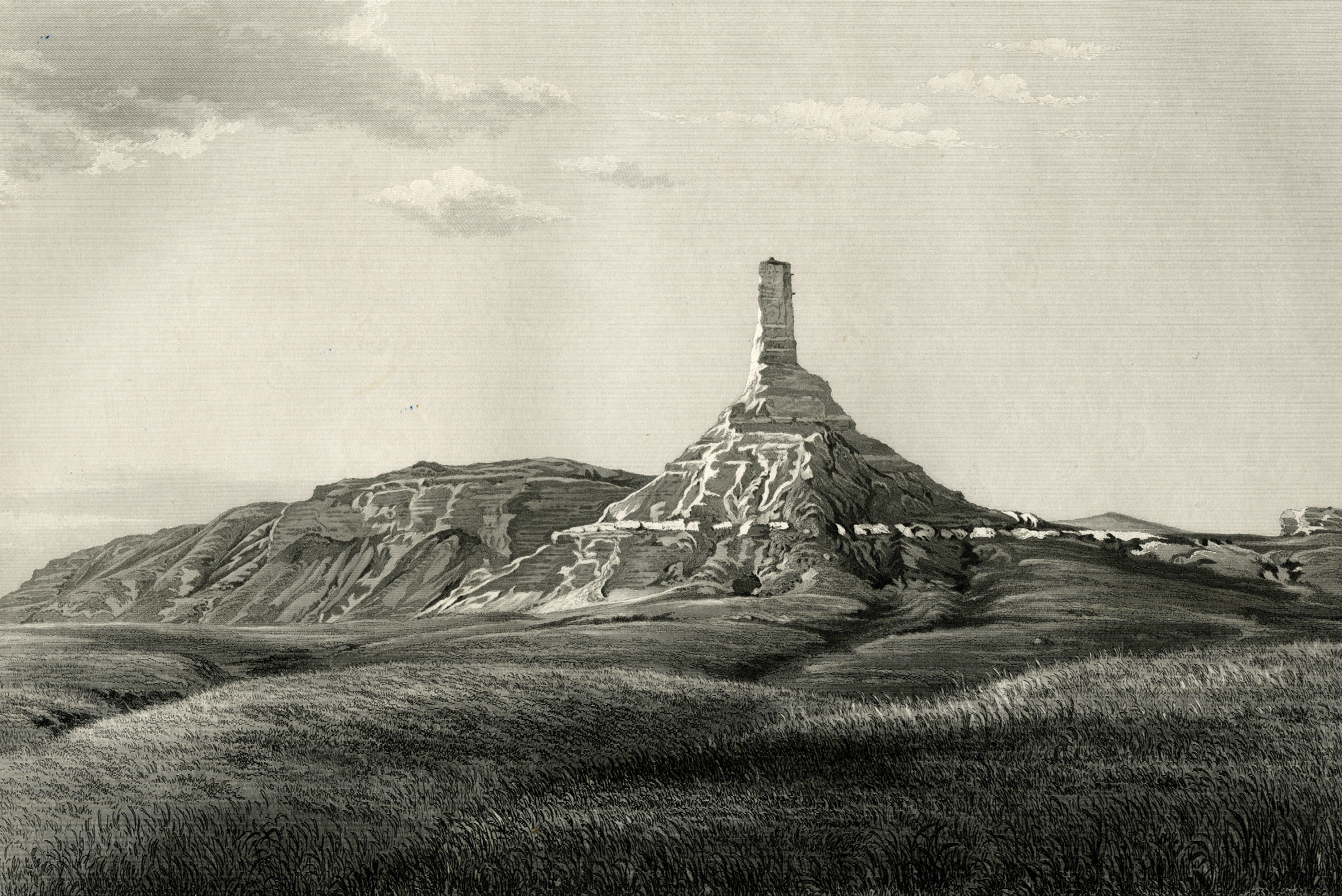 Chimney Rock, by Frederick Hawkins Piercy