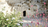 A photo of the Garden Tomb in Jerusalem with pink flowers in the foreground.
