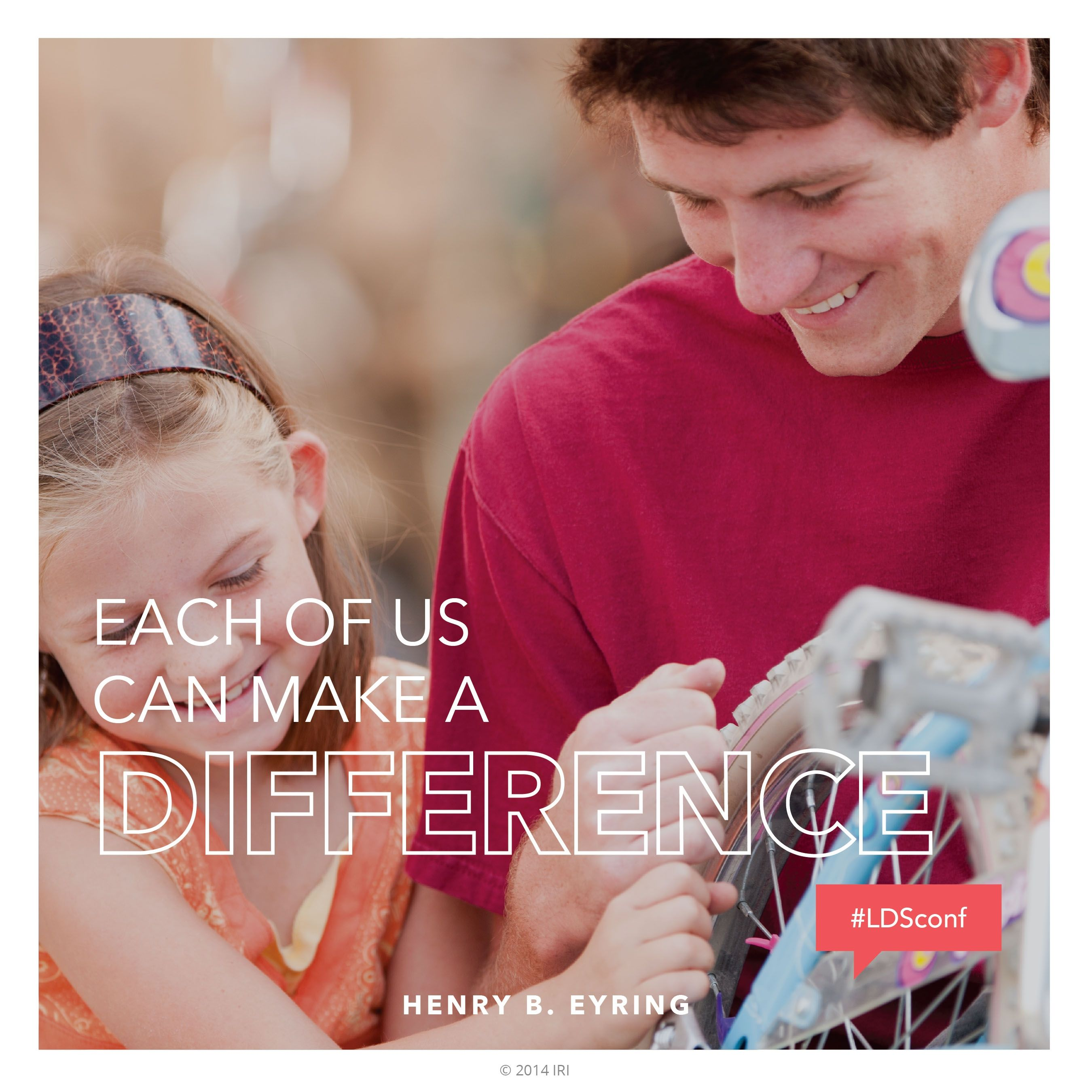 """""""Each of us can make a difference.""""—President Henry B. Eyring, """"The Priesthood Man"""""""