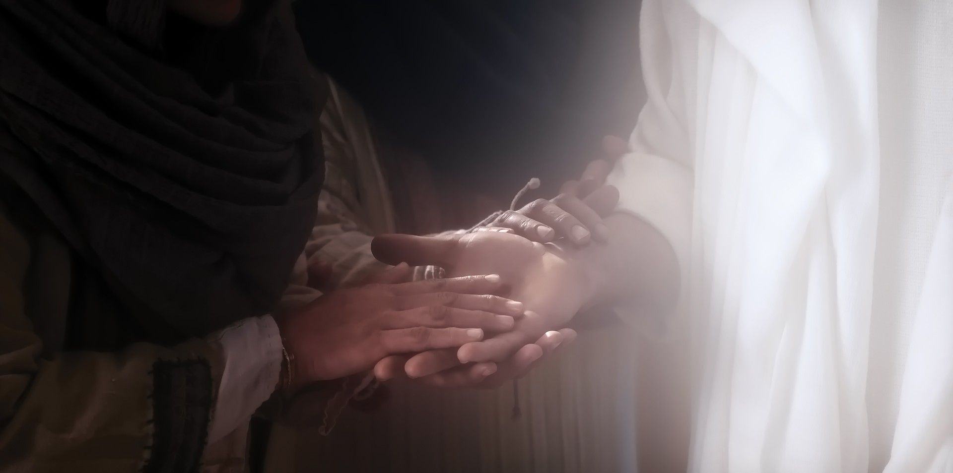 The resurrected Christ invites others to feel His hands.