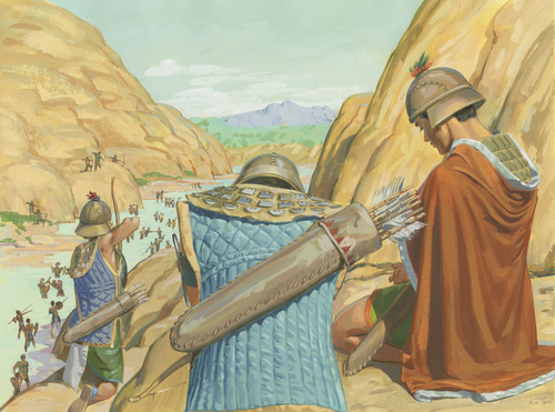 Nephites shooting arrows