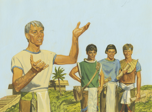 Alma and his sons teaching