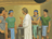 Christ talking to disciples