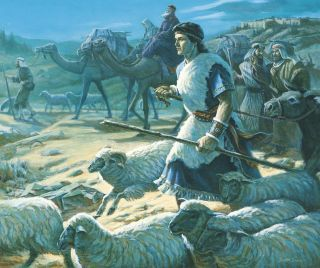 Lehi's Family Leaving Jerusalem, by Scott Snow