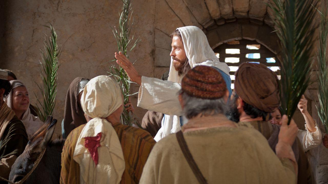 L'entrée triomphale lors du dimanche des Rameaux