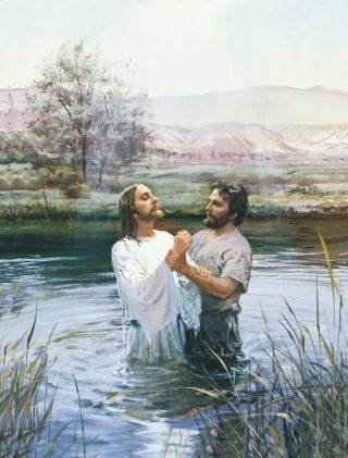 John the Baptist Baptizing Jesus, by Harry Anderson