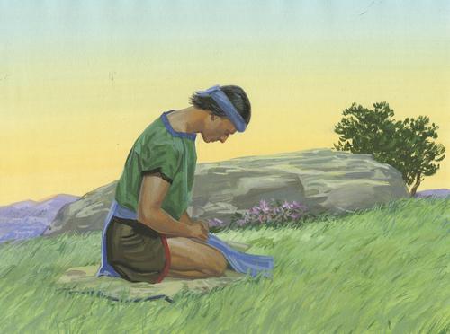 Nephi praying