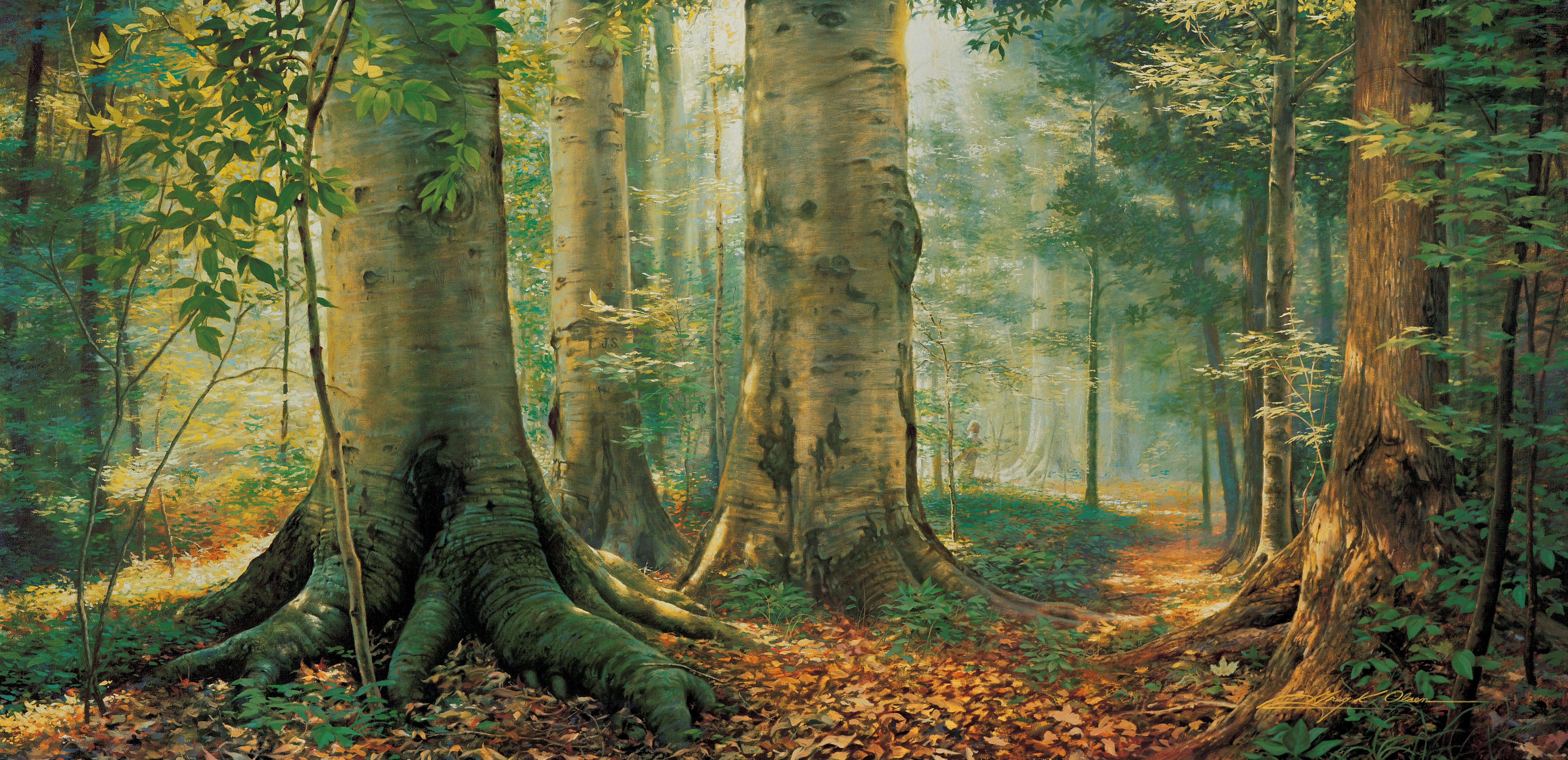 The Sacred Grove, by Greg K. Olsen.