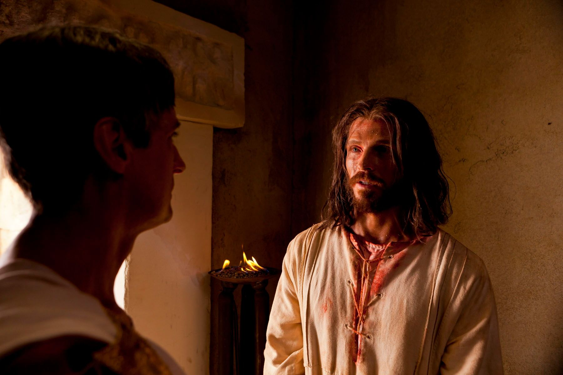 Christ meets with Pilate in private after being condemned.