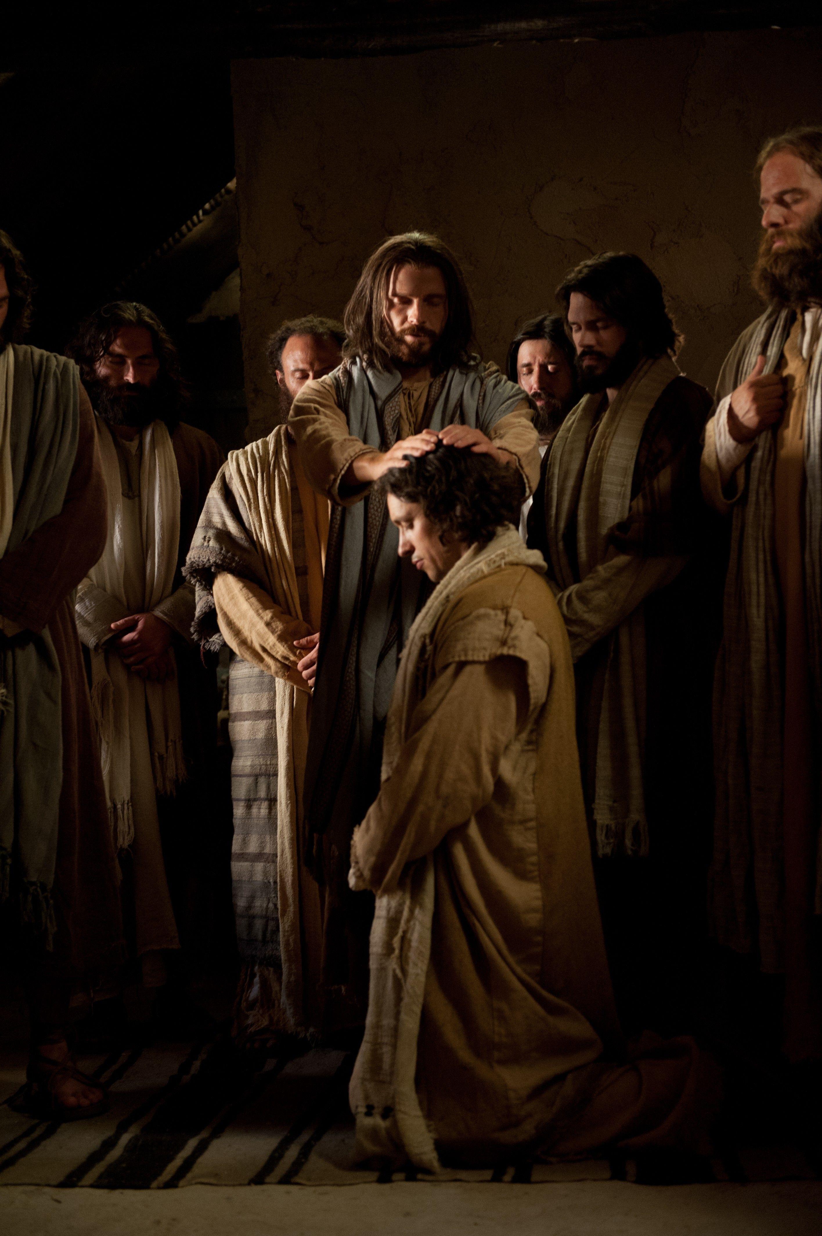 Christ ordaining John as an Apostle.