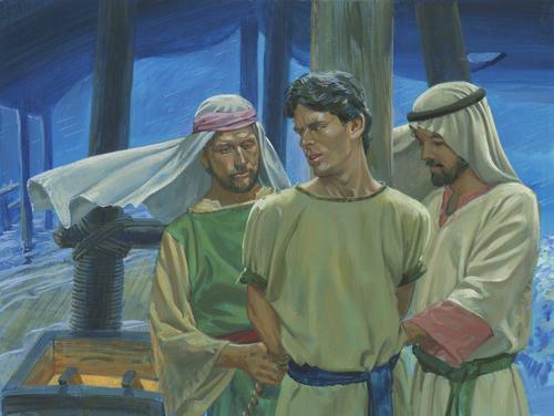 Laman and Lemuel tying up Nephi