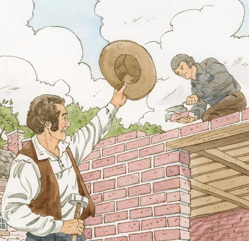men building in Nauvoo