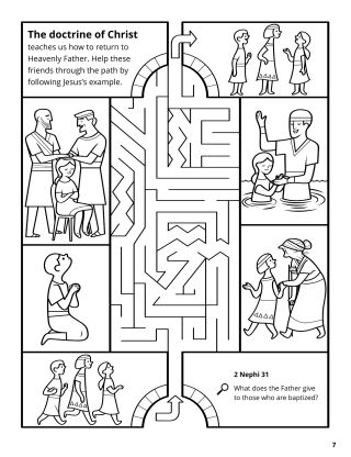 Doctrine of Christ coloring page