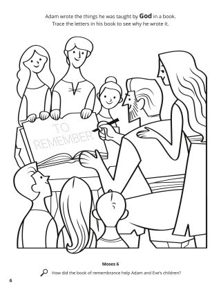 Adam's Book of Remembrance coloring page