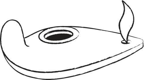 oil lamp template