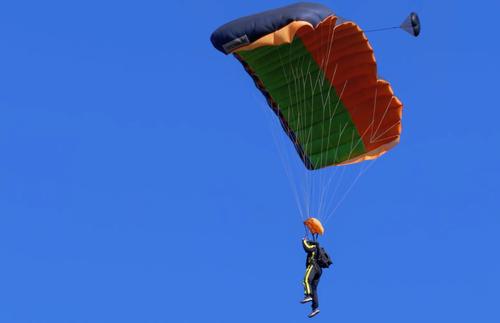 Parachuting to safe landing