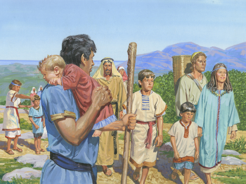 Nephi and righteous leaving