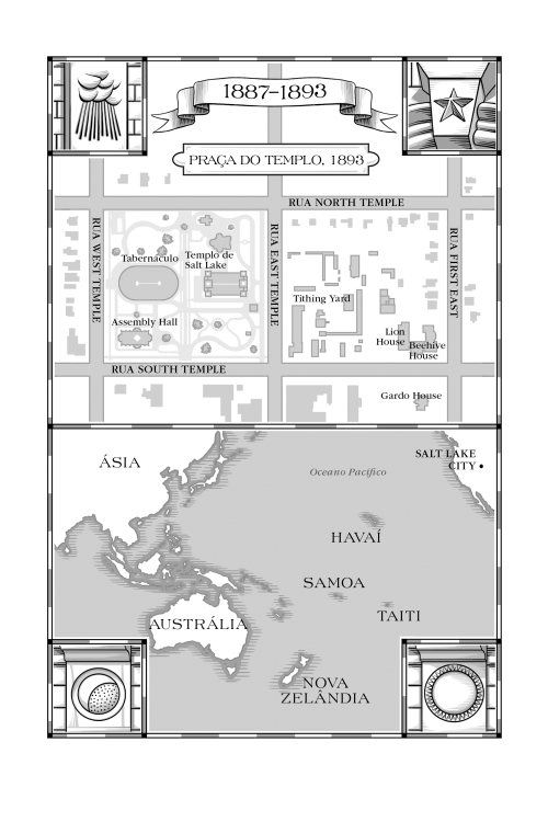Map from the book, The Saints Volume 2