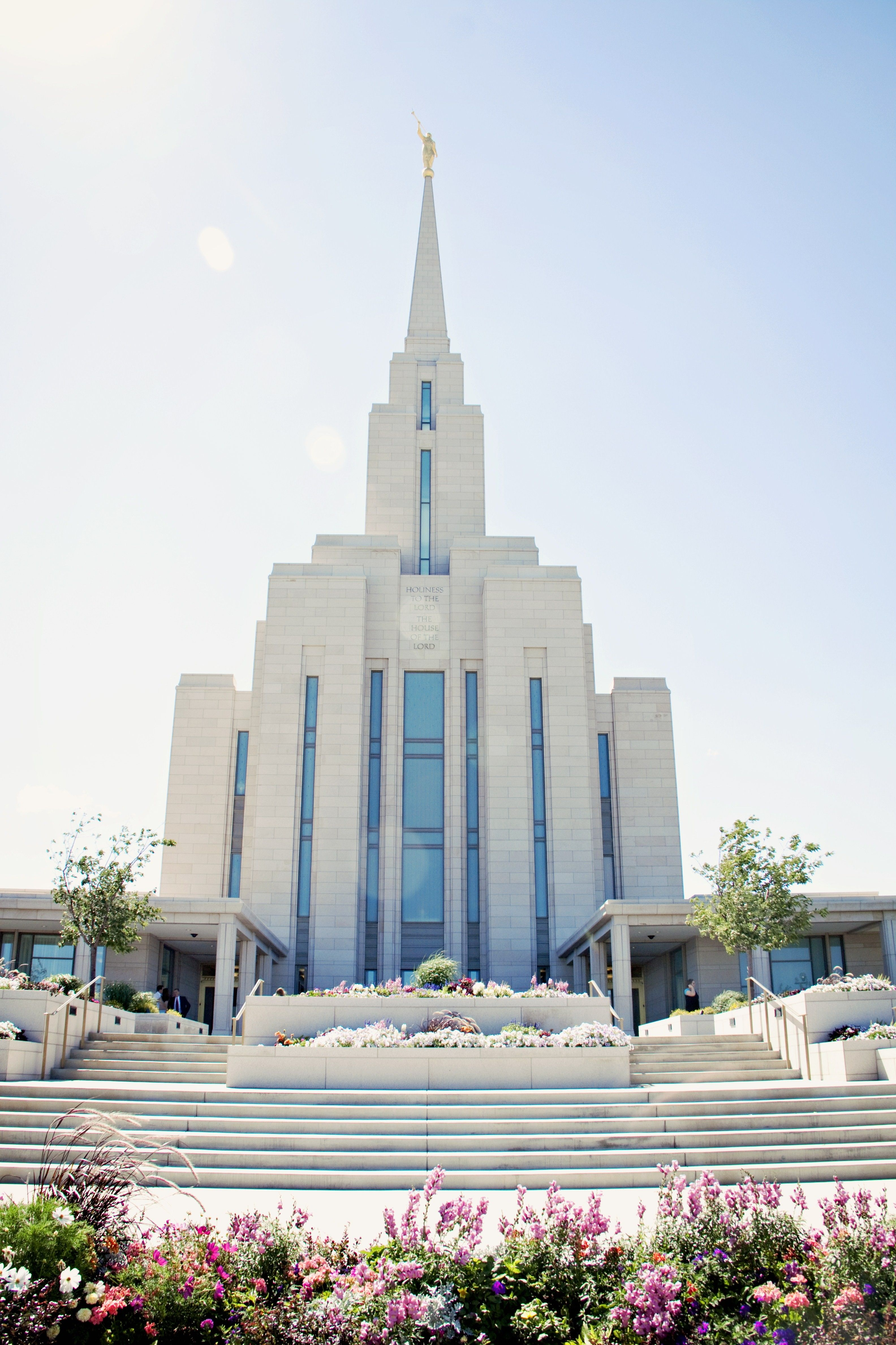 The Oquirrh Mountain Utah Temple, including entrance and scenery.