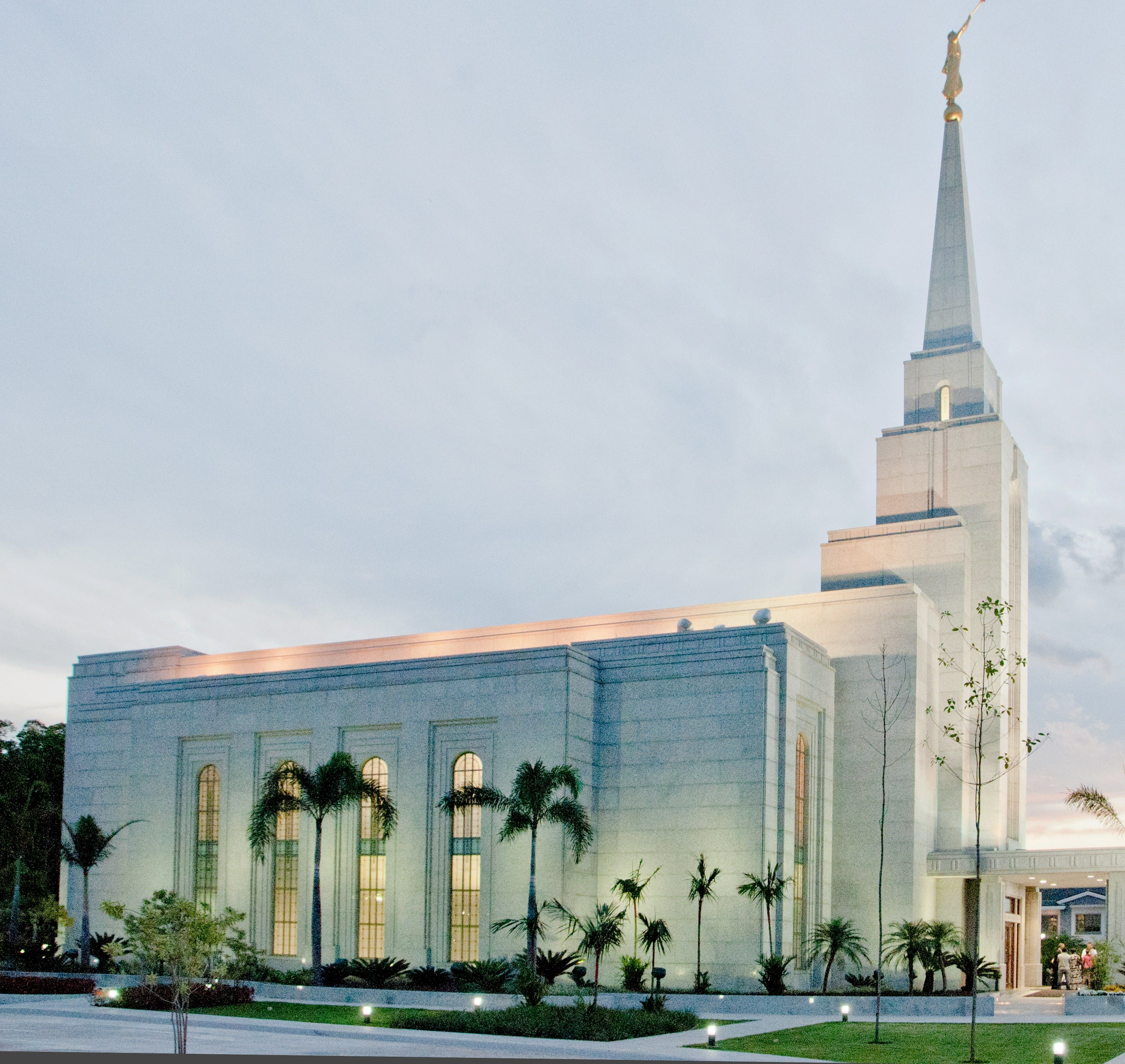 The Manaus Brazil Temple side view, including scenery.