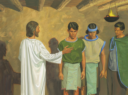 Jesus with three disciples